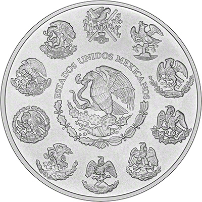2013 Mexican One Ounce Silver Libertad Reverse
