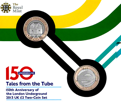 2013 London Underground Twin Pack Uncirculated in Folder