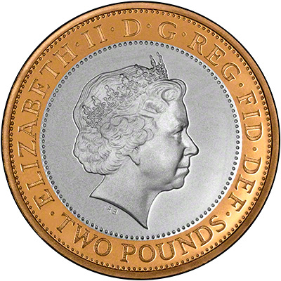 Obverse of 2013 Uncirculated Two Pound Coin