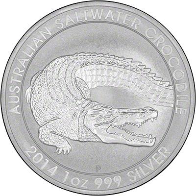 Reverse of 2014 Australian Silver Crocodile