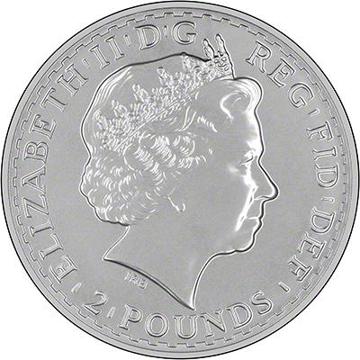 Obverse of 2014 Silver Britannia
