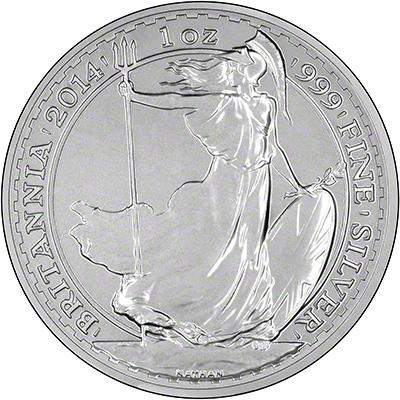 Reverse of 2014 Silver Britannia
