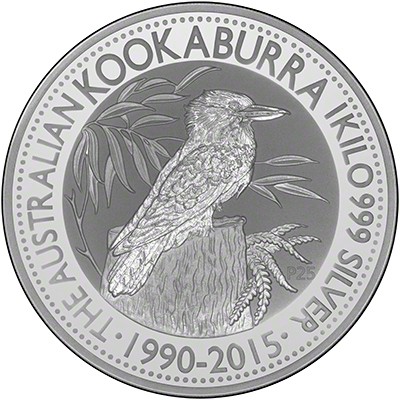2015 One Kilo Silver Kookaburra