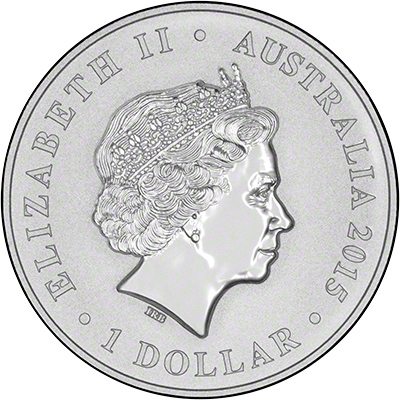Obverse of 2015 Longest Reigning Monarch Silver Intaglio One Ounce Coin