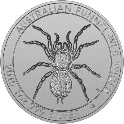 Reverse of 2015 Australian Silver Funnel-Web Spider