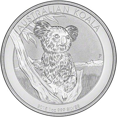 Reverse of 2015 Australian Silver Koala