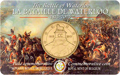 Obverse of 2015 200th Anniversary of Waterloo �2.50 in Presentation Card