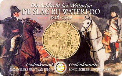 Reverse of 2015 200th Anniversary of Waterloo �2.50 in Presentation Card