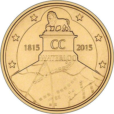 Reverse of 2015 200th Anniversary of Waterloo €2.50