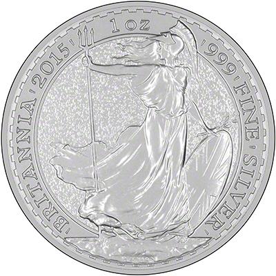 Reverse of 2015 Silver Britannia