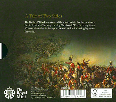 Battle of Waterloo �5 Crown in Folder