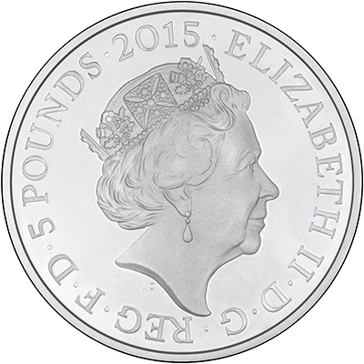 Obverse of 200th Anniversary of Battle of Waterloo Silver Proof �5 Crown