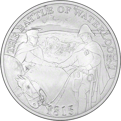Reverse of 200th Anniversary of Battle of Waterloo �5 Crown