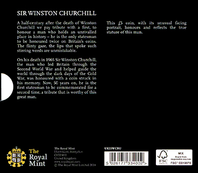 Winston Churchill Crown in Folder