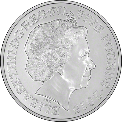 Obverse of 2015 Winston Churchill Crown