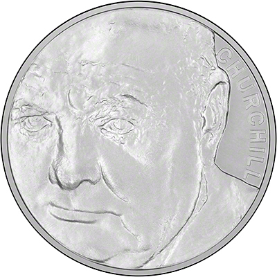 Reverse of 2015 Winston Churchill Crown