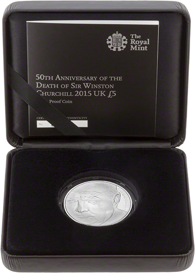 Winston Churchill Silver Proof £5 Crown in Presentation Box