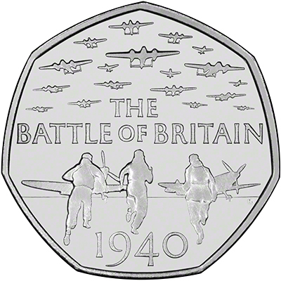 2015 75th Anniversary Of The Battle Of Britain 50 Pence