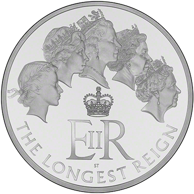2015 Longest Reigning Monarch Silver Proof One Kilo Coin Reverse
