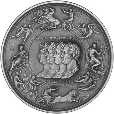 2015 The Pistrucci Waterloo Silver Medal Obverse