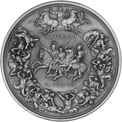 2015 The Pistrucci Waterloo Silver Medal Reverse