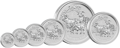 2015 Australian Year of the Goat Coins