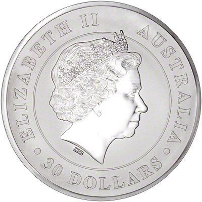 2016 Australian Silver Koala One Kilo Coin Obverse
