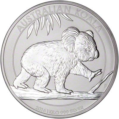 2016 Australian Silver Koala One Kilo Coin Reverse