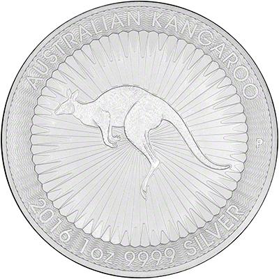 2016 Australian One Ounce Silver Kangaroo Reverse
