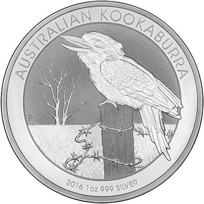 2016 Australian One Ounce Silver Kookaburra Reverse