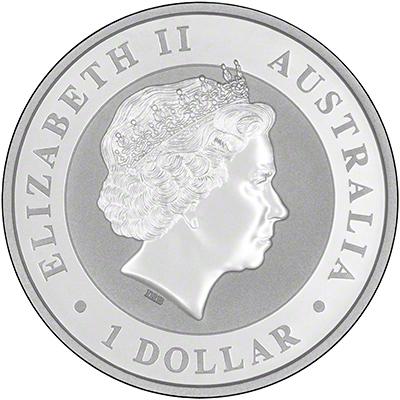 2016 Australian Silver Koala One Ounce Coin Obverse