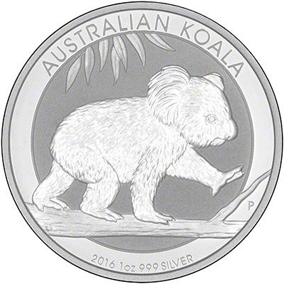 2016 Australian One Ounce Silver Koala Reverse