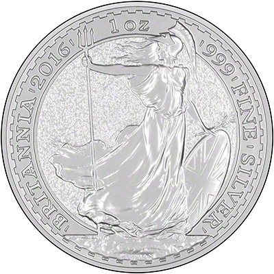 Reverse of 2016 Silver Proof Britannia
