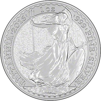 2016 One Ounce Silver Britannia Reverse