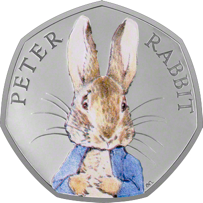 2016 Peter Rabbit 50 Pence