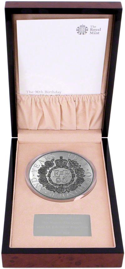2016 Queen's 90th Birthday One Kilo Coin in Presentation Box