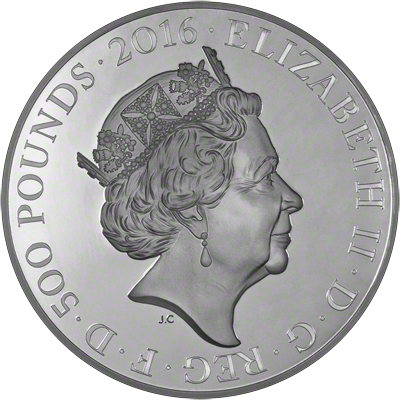2016 Queen's 90th Birthday One Kilo Coin Obverse