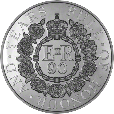 2016 Queen's 90th Birthday One Kilo Coin Reverse
