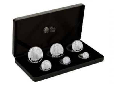 2016 Silver Proof Britannia Six Coin Set