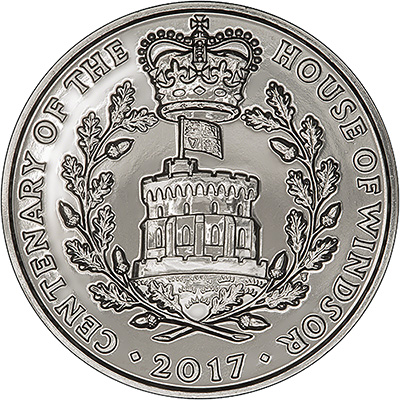 2017 House of Windsor Five Pound Crown Reverse