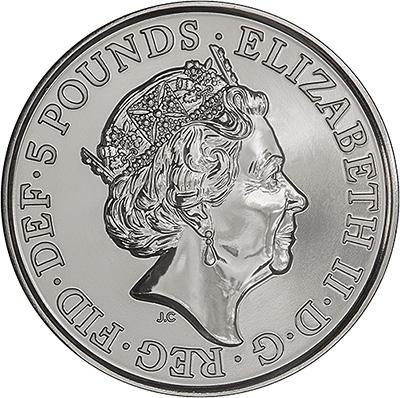 2017 King Canute B.U. £5 Obverse