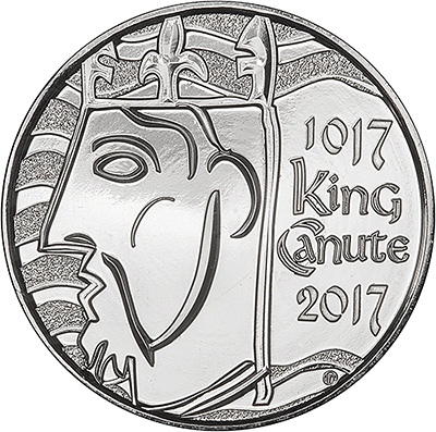 2017 King Canute Five Pound Crown Reverse