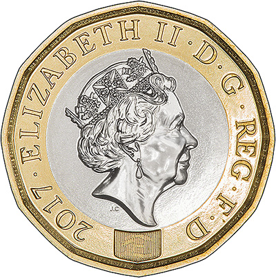2017 12-Sided One Pound Obverse