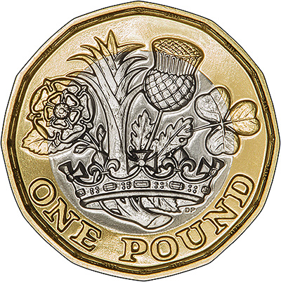 2017 12-Sided One Pound Reverse