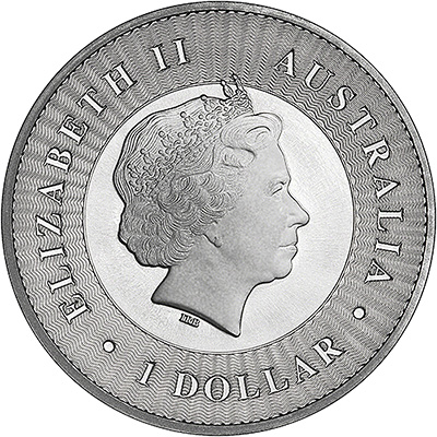 2017 Australian One Ounce Silver Kangaroo Obverse