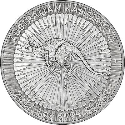 2017 Australian One Ounce Silver Kangaroo Reverse