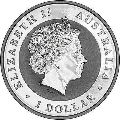 2017 Australian Silver Koala One Ounce Coin Obverse