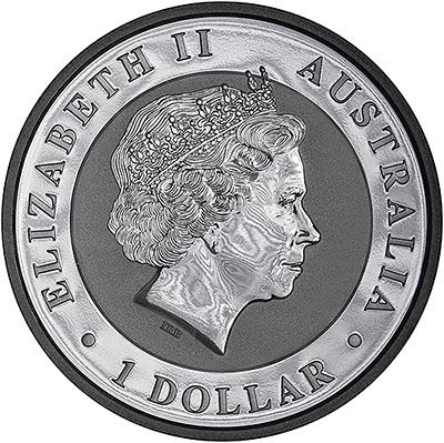 2016 Australian One Ounce Silver Kookaburra Obverse