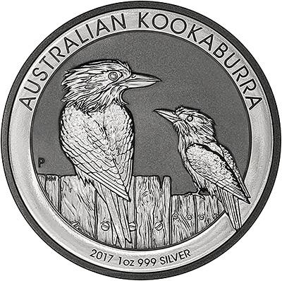 2017 Australian One Ounce Silver Kookaburra Reverse