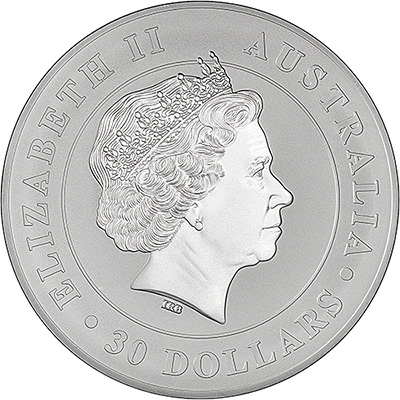 2017 Australian Silver Koala One Kilo Coin Obverse
